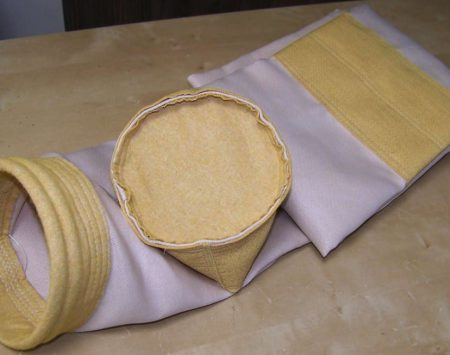 Filter bags: glass fabric with PTFE membrane